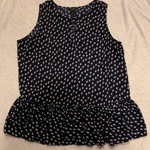 Ann Taylor Factory navy dotted top